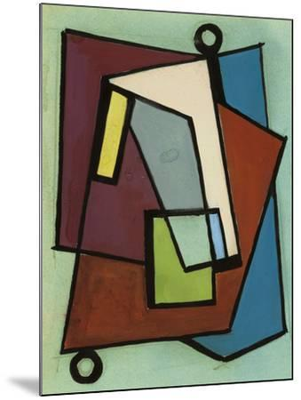 """Study Sketch for """"Composition N. 140""""--Mounted Giclee Print"""