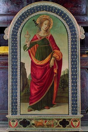 St Lucy--Stretched Canvas Print