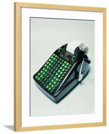 """Victor"" Phenolic Resin Calculator--Framed Giclee Print"