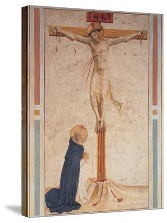 Saint Dominic Praying by the Crucifixion--Stretched Canvas Print