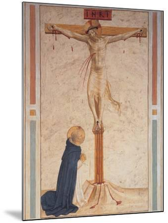 Saint Dominic Praying by the Crucifixion--Mounted Giclee Print