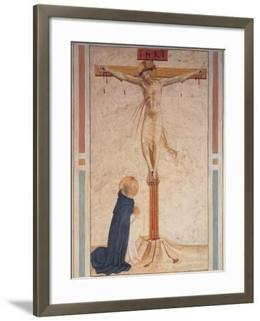 Saint Dominic Praying by the Crucifixion--Framed Giclee Print