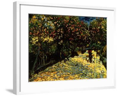Street with Chestnuts Blossoming--Framed Giclee Print