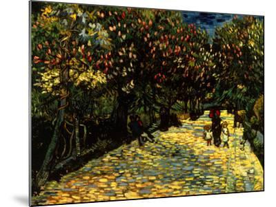 Street with Chestnuts Blossoming--Mounted Giclee Print