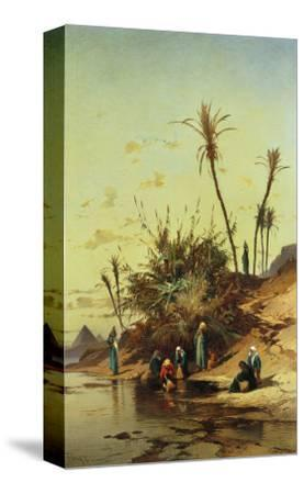 Landscape with Figures on the Nile--Stretched Canvas Print