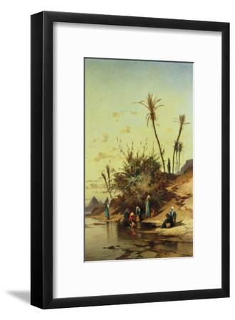 Landscape with Figures on the Nile--Framed Giclee Print