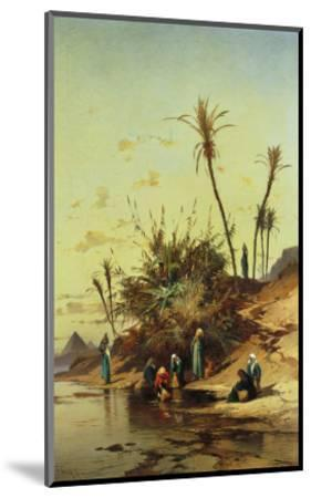 Landscape with Figures on the Nile--Mounted Giclee Print