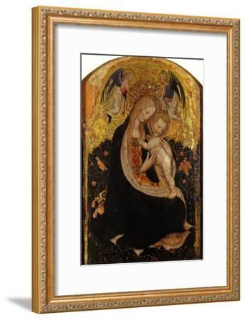 Madonna and Child Crowned by Two Angels (Madonna of the Quail)-Antonio Pisani Pisanello-Framed Giclee Print