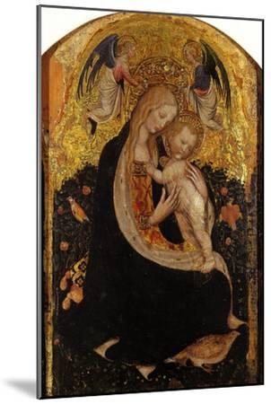 Madonna and Child Crowned by Two Angels (Madonna of the Quail)-Antonio Pisani Pisanello-Mounted Giclee Print