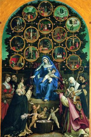 Madonna of the Rosary--Stretched Canvas Print