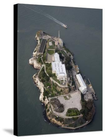 Alcatraz Island and Boat, San Francisco Bay, California-Marli Miller-Stretched Canvas Print
