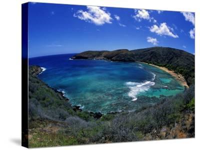Hanauma Bay Is One of Oahu's Most Popular Snorkeling Sites, Hawaii, USA-David Fleetham-Stretched Canvas Print
