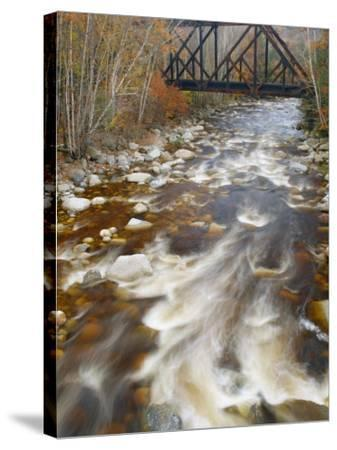 Trestle over the Saco River. White Mountains, New Hampshire-Gustav W. Verderber-Stretched Canvas Print