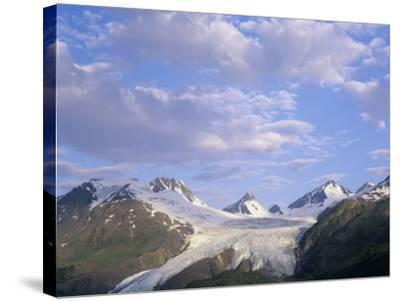 Worthington Glacier and Chugach Mountains, Thompson Pass Near Valdez, Alaska, USA-Adam Jones-Stretched Canvas Print
