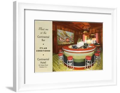 Continental Bar, Hoboken, New Jersey--Framed Art Print