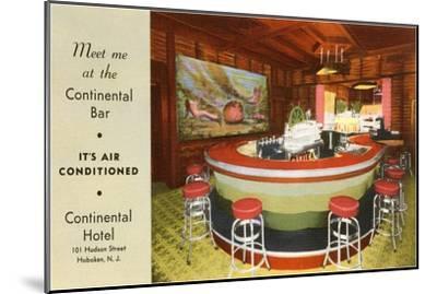 Continental Bar, Hoboken, New Jersey--Mounted Art Print