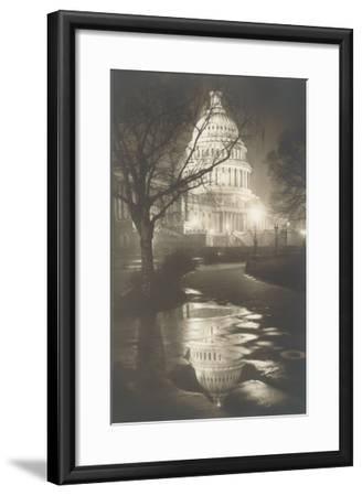 Capitol at Night, Washington, D.C.--Framed Art Print