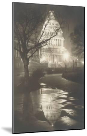Capitol at Night, Washington, D.C.--Mounted Art Print