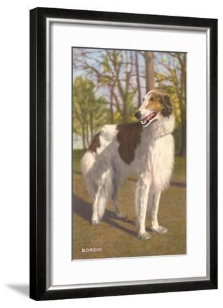Borzoi--Framed Art Print