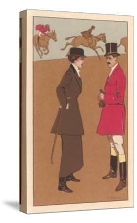 English Fox Hunt--Stretched Canvas Print
