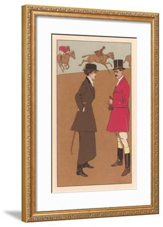English Fox Hunt--Framed Art Print