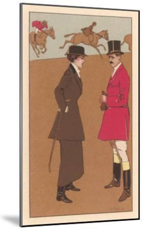 English Fox Hunt--Mounted Art Print