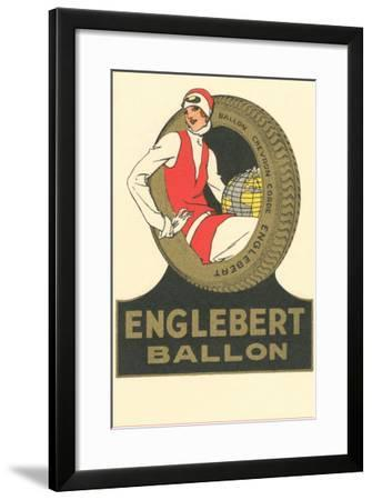 Flapper with Glove in Tire--Framed Art Print