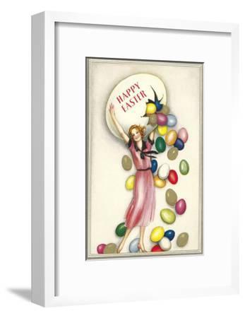 Jelly Beans Falling from Egg--Framed Art Print