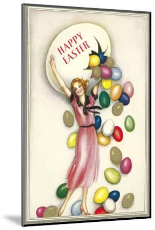 Jelly Beans Falling from Egg--Mounted Art Print