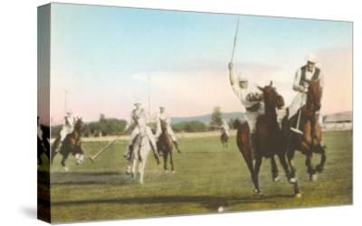 Polo Match--Stretched Canvas Print