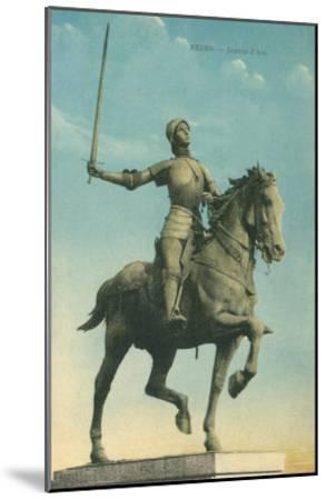Statue of Jeanne d'Arc--Mounted Art Print