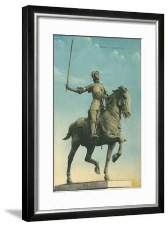 Statue of Jeanne d'Arc--Framed Art Print