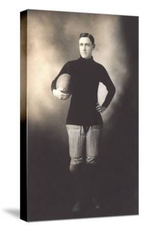 Vintage Football Player--Stretched Canvas Print