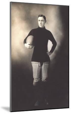 Vintage Football Player--Mounted Art Print