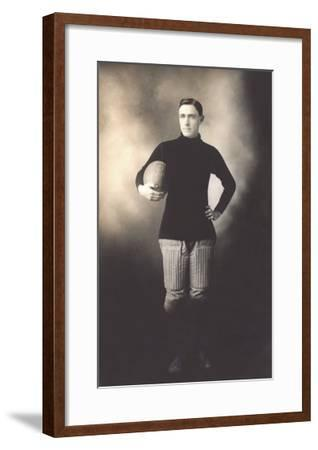 Vintage Football Player--Framed Art Print