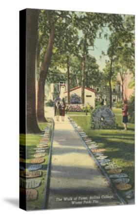 Walk of Fame, Rollins College--Stretched Canvas Print