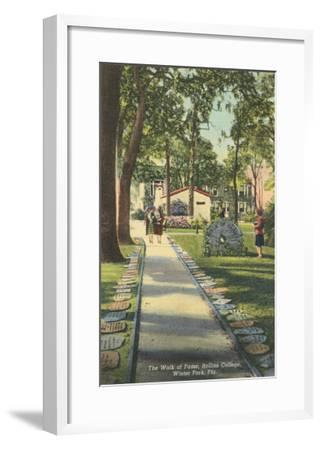 Walk of Fame, Rollins College--Framed Art Print