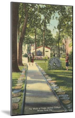 Walk of Fame, Rollins College--Mounted Art Print