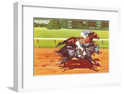 Photo Finish--Framed Art Print