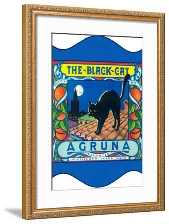 Black Cat Oranges--Framed Art Print