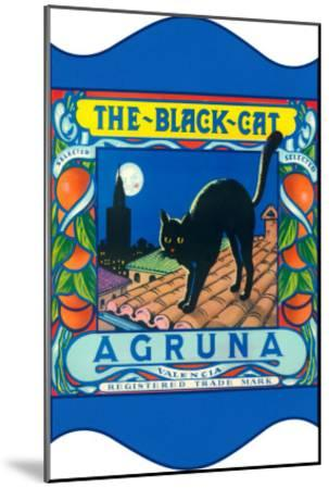 Black Cat Oranges--Mounted Art Print