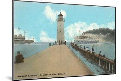 Steamer, Chicago, Illinois--Mounted Art Print