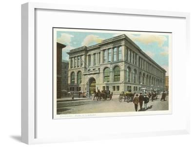 Library, Chicago, Illinois--Framed Art Print