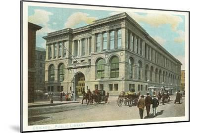 Library, Chicago, Illinois--Mounted Art Print