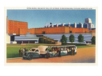 Shuttle Bus, Chicago World's Fair--Framed Art Print