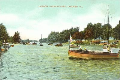 Lagoon. Lincoln Park, Chicago, Illinois--Stretched Canvas Print