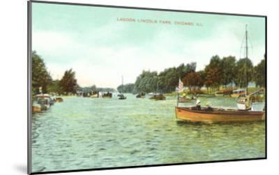 Lagoon. Lincoln Park, Chicago, Illinois--Mounted Art Print