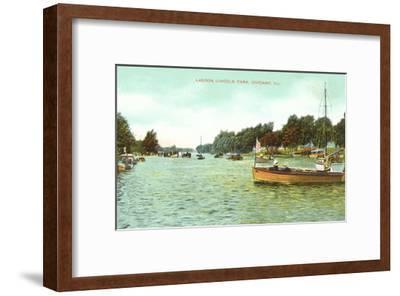 Lagoon. Lincoln Park, Chicago, Illinois--Framed Art Print