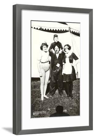 Circus Performers, Ringling Brothers, 1915--Framed Art Print