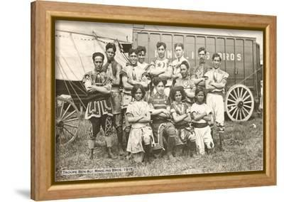 Troupe Ben-Ali, Ringling Brothers, 1915--Framed Stretched Canvas Print